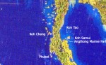 Koh Phangan Paradise Island is missing on world satellite map!