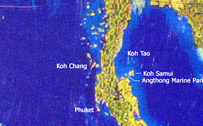 Koh Phangan Satellite Map
