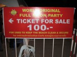 Koh Phangan Full Moon Party Ticket now being charged on EVERY Tourist – 100 THB only!