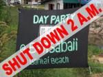 Baan Sabai Party Shut Down