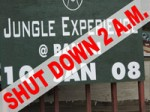 Jungle Experience Party Shut Down