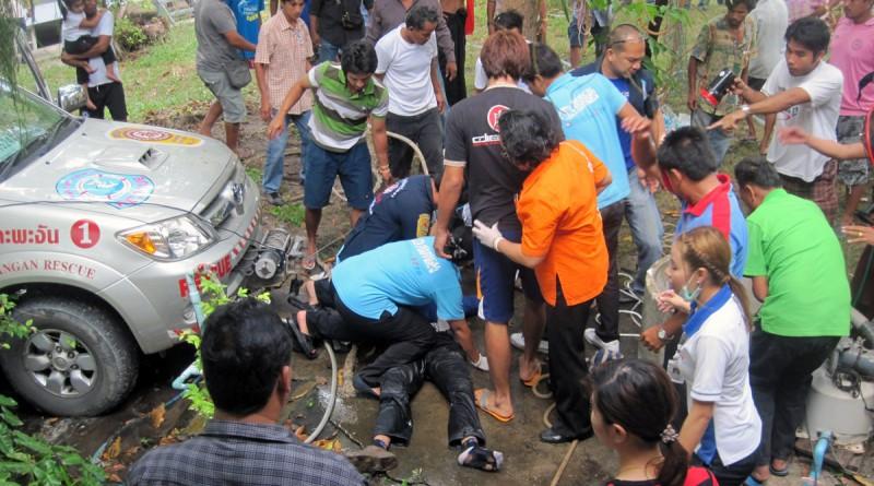 Three local Thai men died in tragic accident due to