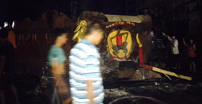 Reggae House Burnt Down! Picture Credit: Namsom Puntipa