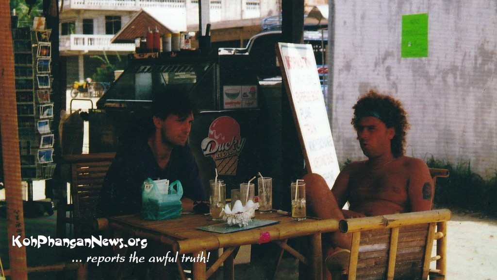Koh Phangan 1988/89 - My friend Kurt and me chillin' in Thongsala ;)