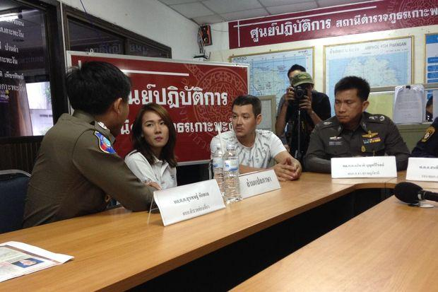 Mr Sergei Milentie (seated second from right) at the news briefing on Monday. (Photo with friendly support from Bangkok Post by Supapong Chaolan)