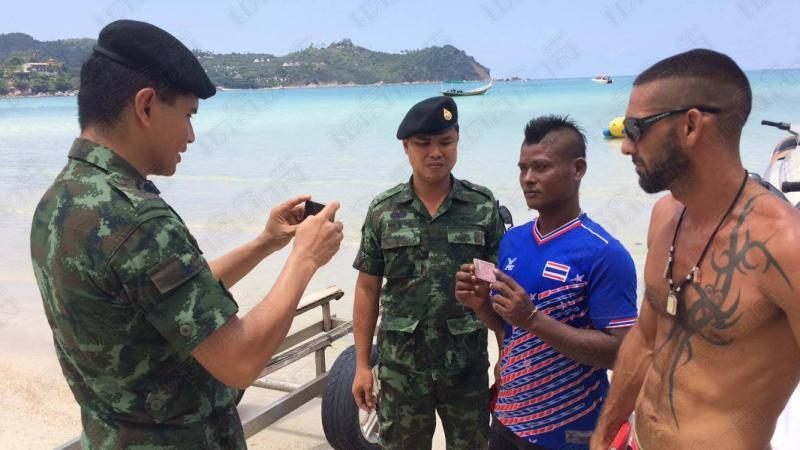 Soldiers arrest Koh Phangan jet ski operator - Image Credit www.dailynews.co.th