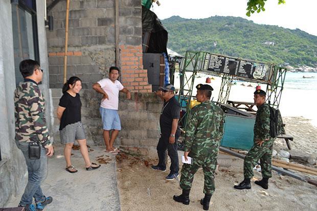 Illegal land encroachers at Haad Rin beach on Koh Phangan island given ultimatum