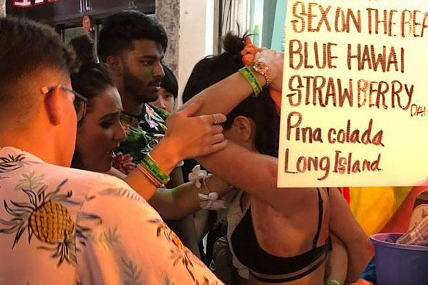 Female tourist hit with bottle at Full Moon Party Koh Phangan Island