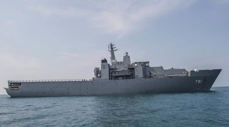HTMS-Angthong Royal Thai Navy amphibious ship